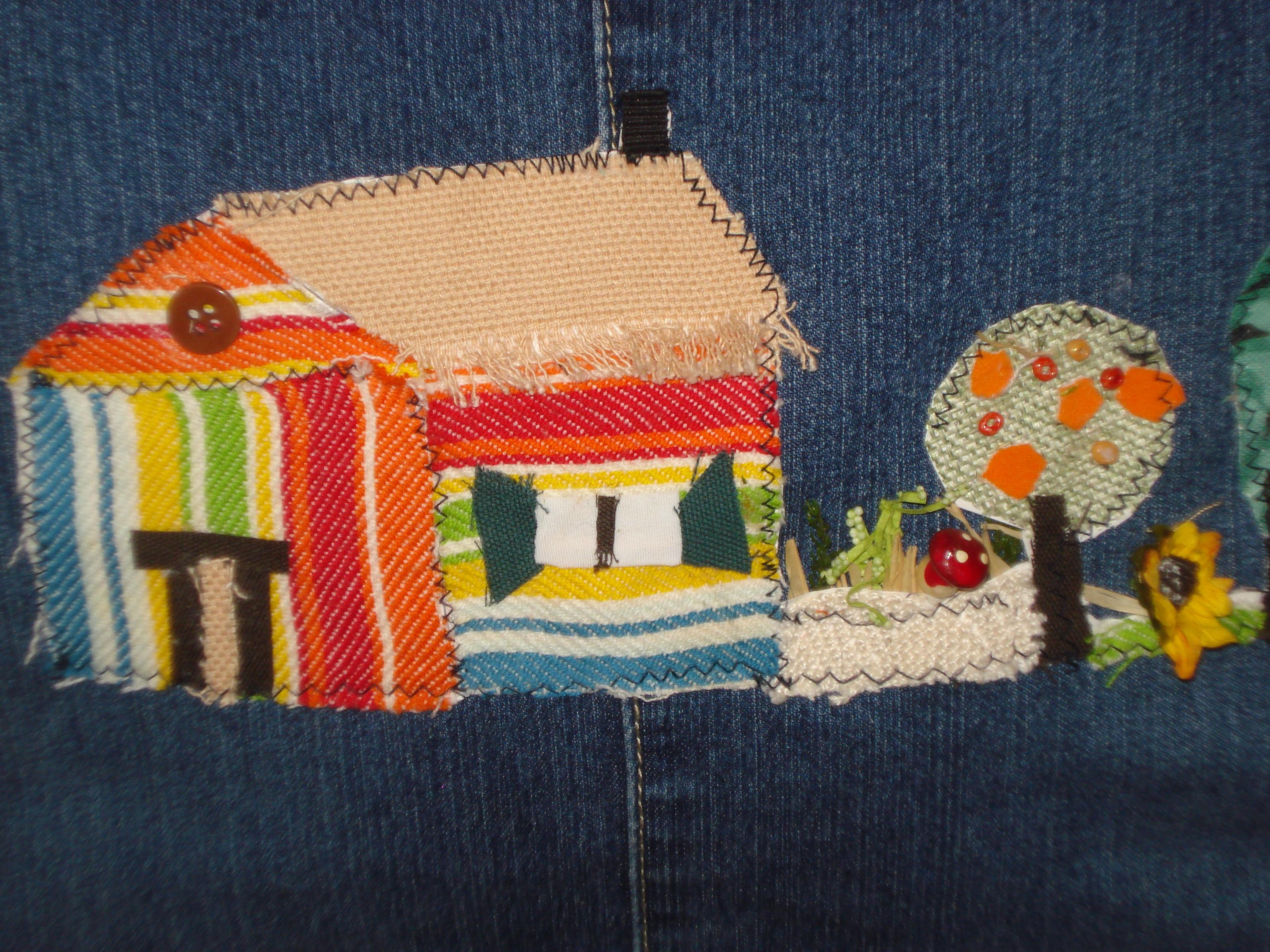 Particolare borsa di jeans creazioni fai da te for Creazioni fai da te per la casa